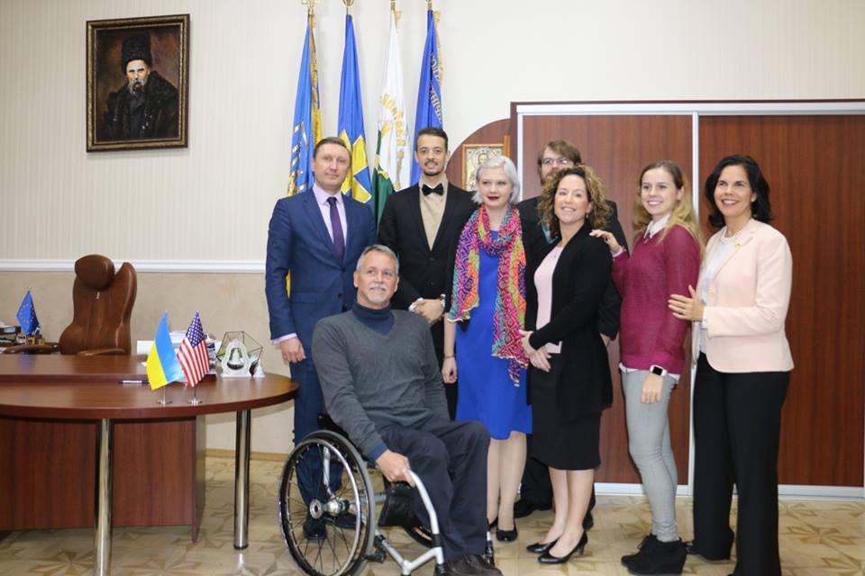 Робоча зустріч ректора ПолтНТУ з представниками Коледжу Санта Фе та Посольства США в Україні