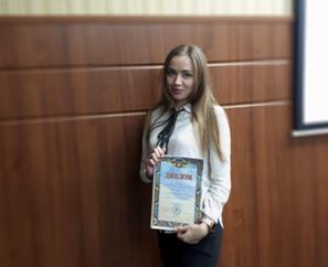 Вітаємо студентку ПолтНТУ з успішним захистом наукової роботи на ІІ етапі Всеукраїнського конкурсу наукових робіт