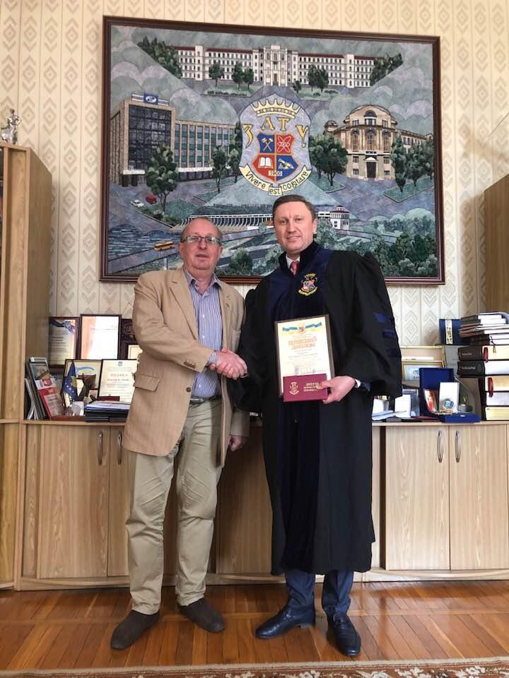 Ректор ПолтНТУ отримав звання «Почесний професор Запорізького національного технічного університету»!