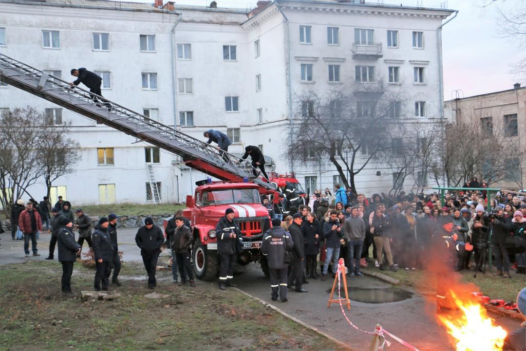 Студенти навчалися швидкій евакуації з гуртожитків
