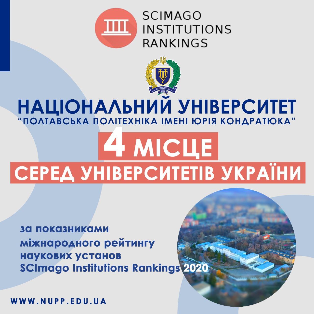 Рейтинг SCImago IR 2020: політехніка посіла друге місце серед університетів України