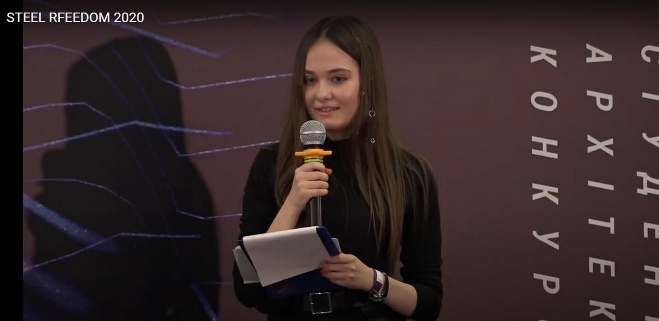 Студентка політехніки стала срібною призеркою Національного архітектурного студентського конкурсу Steel Freedom!