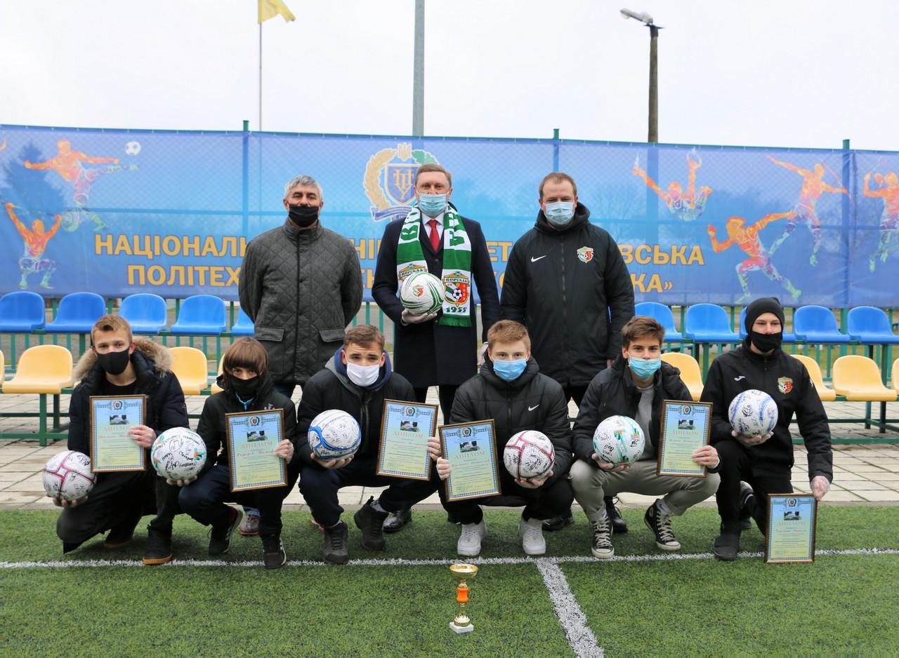 ФК «Ворскла» привітала політехніку з ювілеєм і нагородила переможців спортивного конкурсу